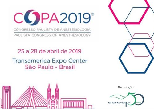 Evento: COPA 2019 - Congresso Paulista de Anestesiologia Realização: SAESP - Sociedade de Anestesiol
