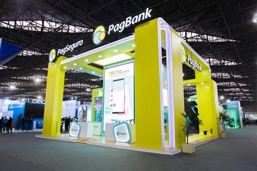 Estande desenvolvido para PagSeguro PagBank durante a Feira do Empreendedor 2019