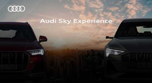Ação de Live Marketing Audi Sky Experience