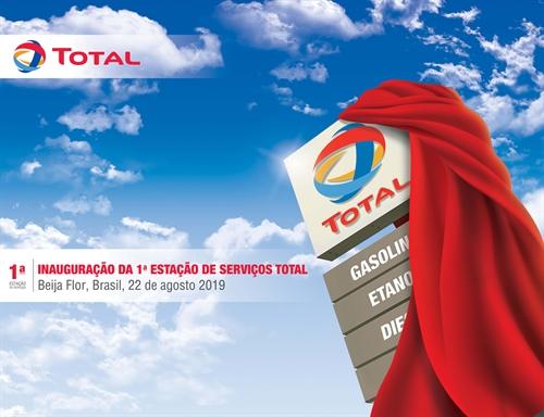 Inauguração do Posto Total no Brasil