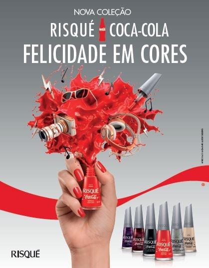 Nova coleção de esmaltes Risque e Coca cola