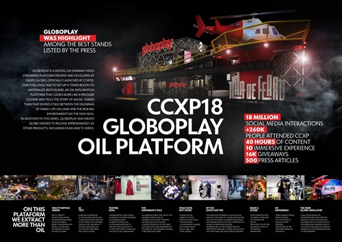 Estande do Globoplay na CCXP18